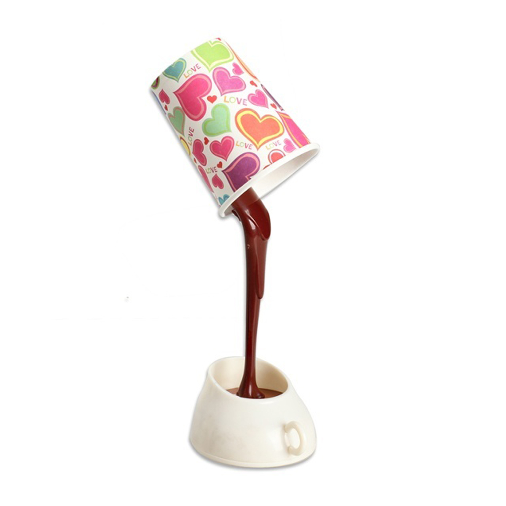 DIY Table Lamp Eye Protection Desk Lamp Peculiar New LED Nightlight Coffee Pour Lamp With USB Battery(China (Mainland))