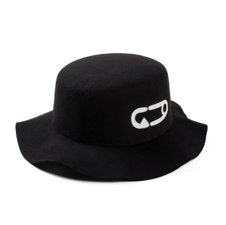 Unisex GD Panama Jazz Hat Wide Brim Fedoras Bowler Hat Wool Fashion Fedora Hats For Men Hip Hop Beach Flat Cap For Girls Black(China (Mainland))