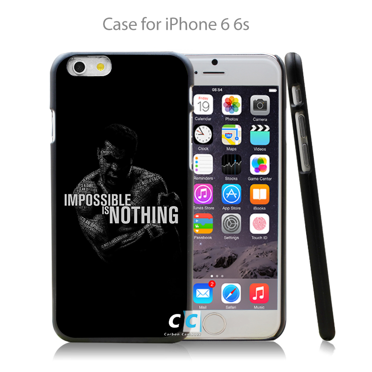muhammad ali quotes boxing sports Hard Black Case Cover Shell Coque for iPhone 4 4s 4g 5 5s 5g 5c 6 6g 6 Plus(China (Mainland))