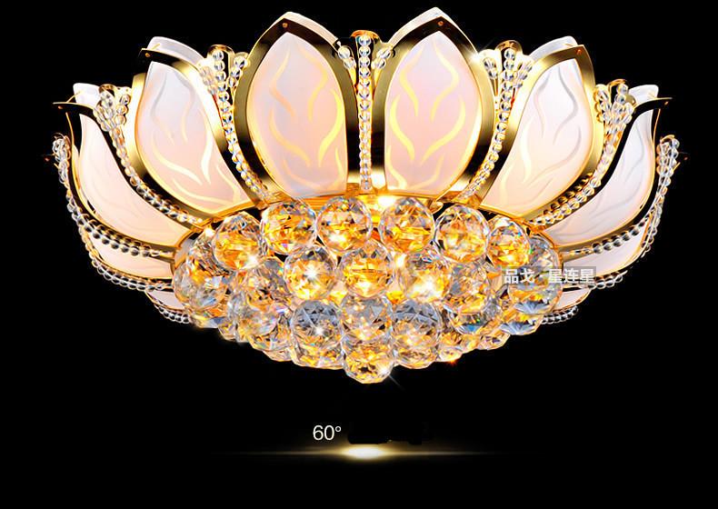 Acquista fiore di loto plafoniere moderno con vetro paralume oro