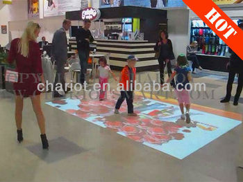 New interactive projection floor software with different effects for advertising/shopping mall/event/exhibition