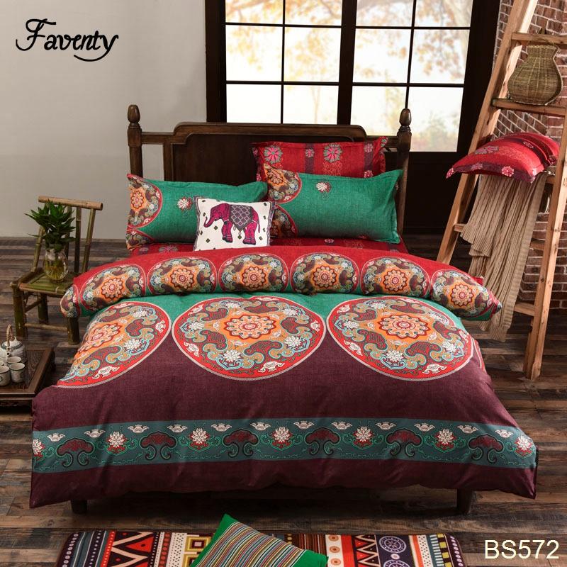 Modern Paisley Print Duvet Covers,Fashion Exotic Boho Bedding,Elegant Striped Bed Sheet Set,4Pcs(China (Mainland))