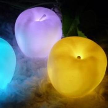 5Pcs 7 Color Change Apple Shaped LED lamp Night Light  #10765