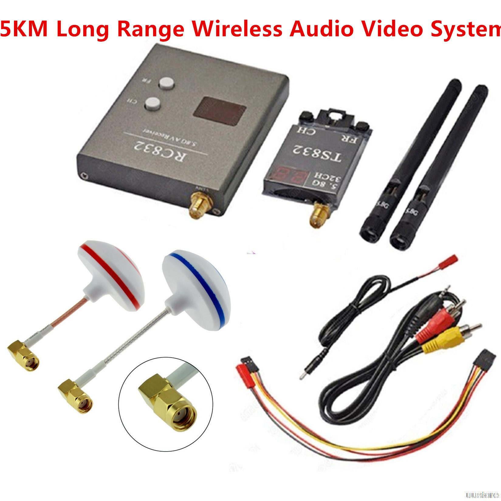 FPV 5.8GHz 600mW Wireless Audio Video Link 48CH Transmitter TS832 & Receiver RC832 For Camera Drone Remote Control(China (Mainland))