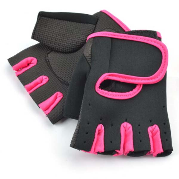 Rose Red M Free shipping Gym Body Building Training Fitness Gloves Sport Protection Weight lifting Workout Exercise Durable Long<br><br>Aliexpress