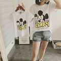 Family Matching Outfit Print Cartoon Mickey T shirt Dresses Mother and Daughter Clothes Family Look Set