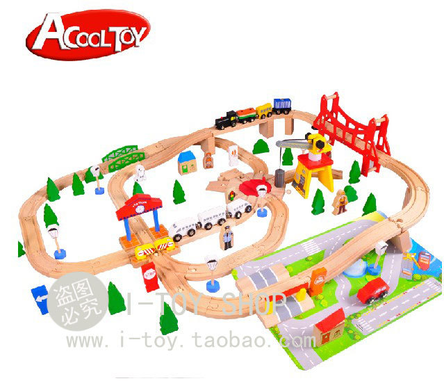 Diecasts Toy Vehicles Kids Toys Model Cars wooden puzzle Building slot track Rail transit Parking Garage 100pcs(China (Mainland))