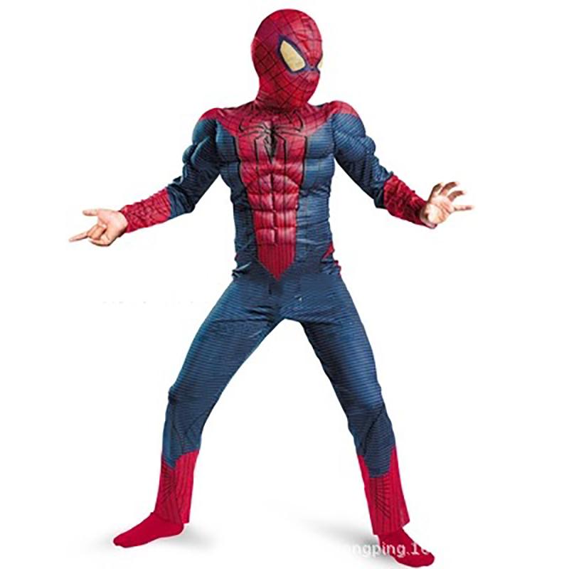 Kids Bob Muscle Spiderman Costume Boys Spiderman Cosplay Costume Halloween Costume for kids/Childrens Fancy Dress