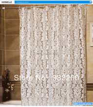 02HV Modern Waterproof Shower Curtain For bathroom Flower printed 200cmx180cm White Flower Available Different Sizes(China (Mainland))