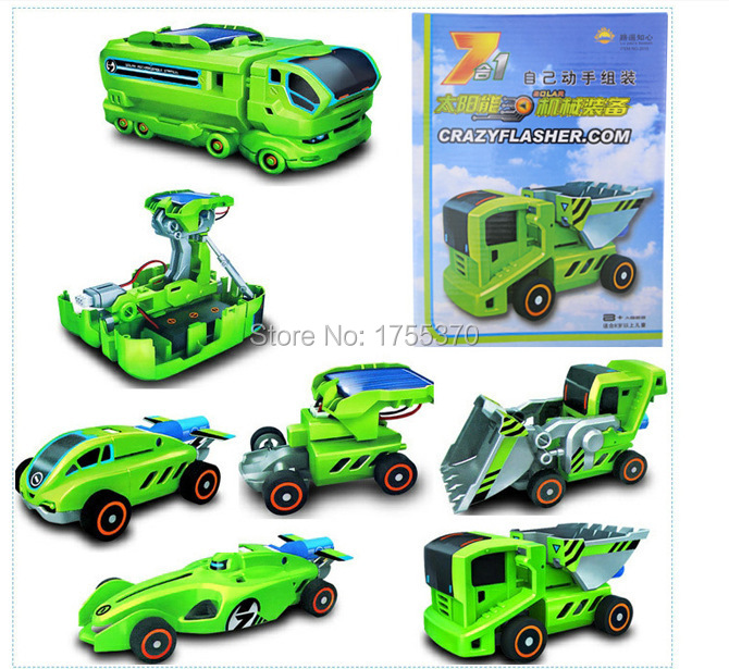 Гаджет  Newest 7 in 1 2014 DIY Electronic Learning & Education Solar Power Car gadget Educational Kits Toys as gift for boy children None Игрушки и Хобби