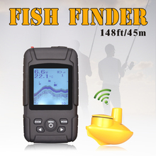 Waterpoof Russian Wireless Fish Finder 125KHz Frequency Bottom Contour 0.6-45M Fishfinder Sensor Fishing Camera FFW718LiW(China (Mainland))
