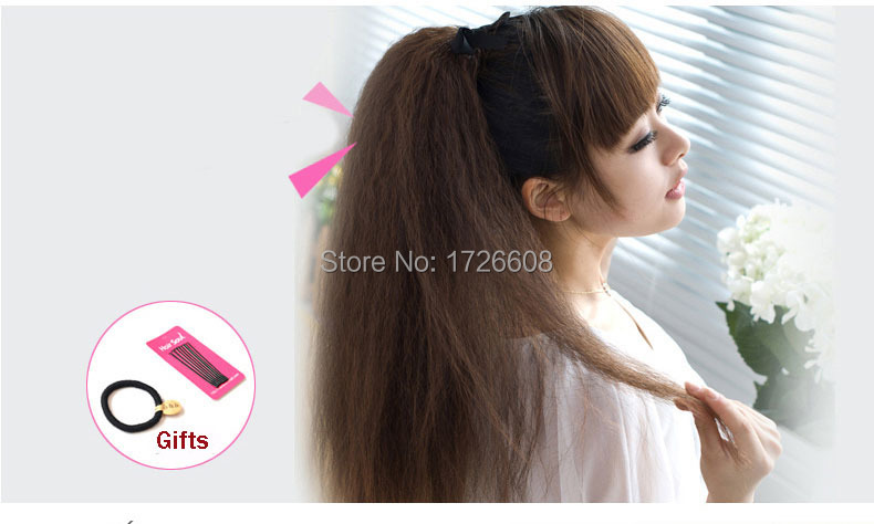 Wholesale Yaki Straight Synthetic Hair Ponytail For Black Women
