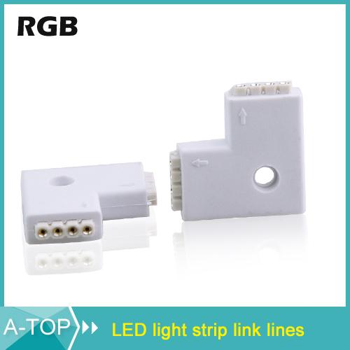 10PCS L Shape 10mm Quick Splitter Right Angle Corner Connector for 3014 3528 5050 5630 LED Strip Light No soldering<br><br>Aliexpress