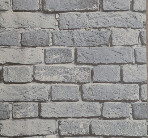 Vinyl brick wallpaper 3d yellow brown grey red brick for Grey brick wallpaper bedroom