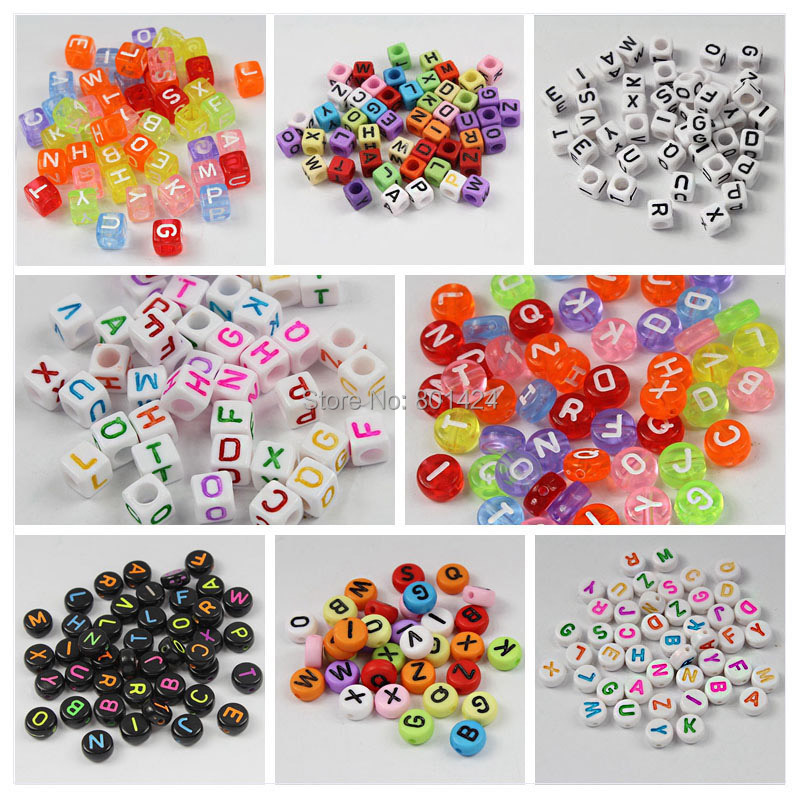 Гаджет  free shipping 500pcs 81-243 many kinds of multicolour square/coin plastic acrylic A-Z letters of an alphabet  diy fashion beads None Ювелирные изделия и часы