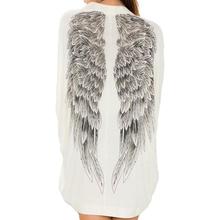 Femininas Blusas Y Camisas Mujer Blouse Women Tops Woman Clothes Female Eagle Wings Print Shirt Plus Size Vetement Femme Chemise