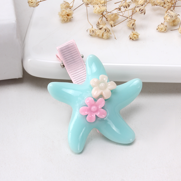 1 Pair Star-Fish Flower Plastic Girls Fashion Hair Clip&HairPin&Hairwear(China (Mainland))