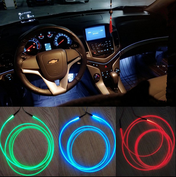 car use car light side glow fiber optic light illuminator in led strips from lights lighting. Black Bedroom Furniture Sets. Home Design Ideas