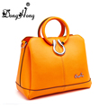 2016 new fashion genuine leather handbag Top selling luxury high quality handle leather shoulder bag