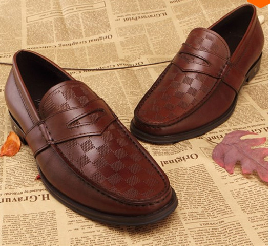 British Style Mens Dress Flats Slip-on Plaid Decor Men Shoes Leather Oxford Shoes Brand Sapatos Masculinos Zapatos Hombre<br><br>Aliexpress