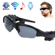 Wireless Bluetooth In-Ear SunGlasses Earphone Handfree For iPhone Samsung HTC(China (Mainland))