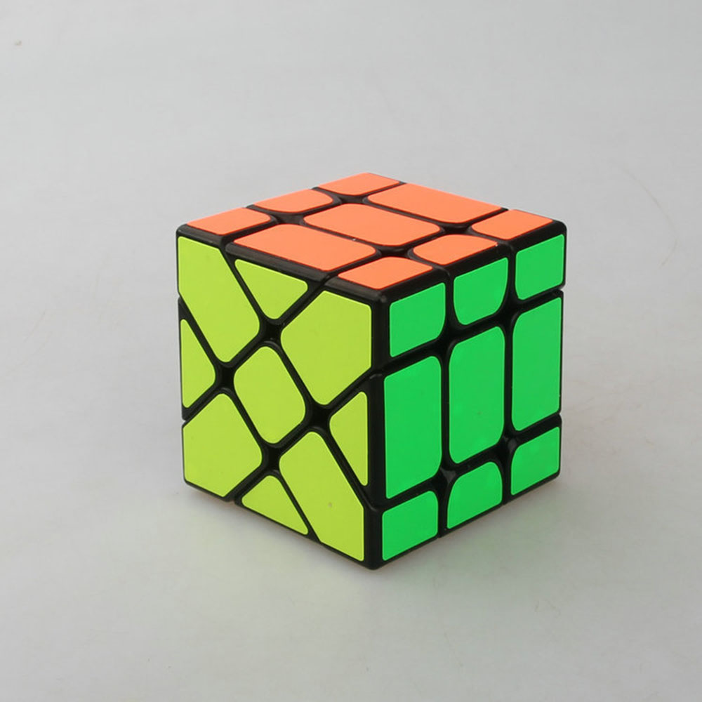 1pcs 57x57x57mm Fisher Cube 3 x3x3 deformation Black ridge puzzle magic cube gift toy(China (Mainland))