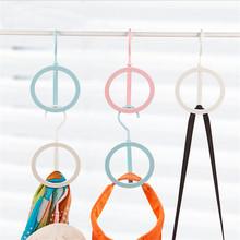 Free shipping 1 Piece Creative Round Folding Hanger Save Space ABS Comic wardrobe storage Hanger rack(China (Mainland))