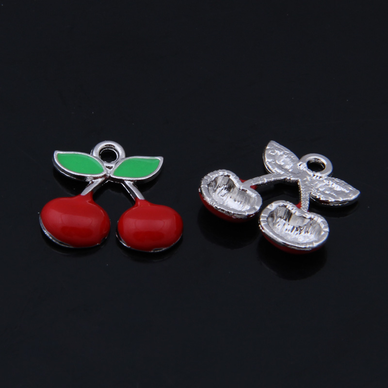 Free Shipping 20pcs/lot Tibetan Silver fruit Cherry Charms,Zinc Alloy Metal Vintage Apple Charm Pendant XBLDY009(China (Mainland))