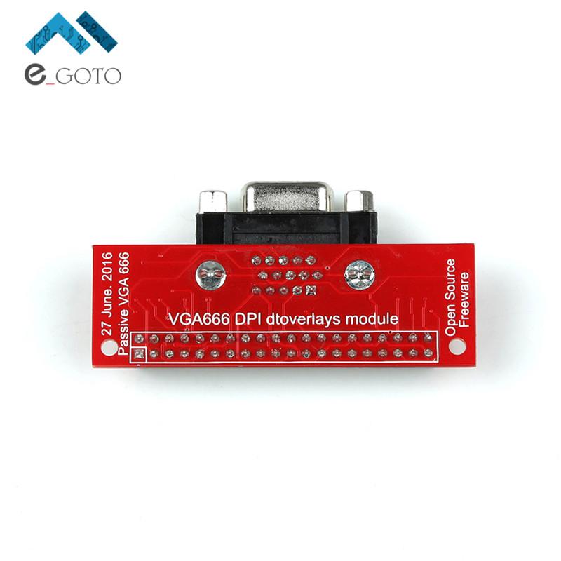 EP-0073 VGA666 DPI dtoverlays Module Adapter Board Gert-VGA For Raspberry Pi 3B / 2B / B+