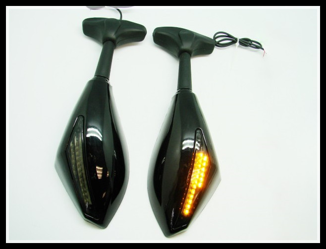 Freeshipping LED Turn Signals Integrated Mirrors Honda CBR 600 F4i 929 954 1000 RR F3 F2 - Motorcycle Parts Retail& Aftermarket store