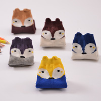 2016 new products in the spring of cartoon small fox children socks without bone seam