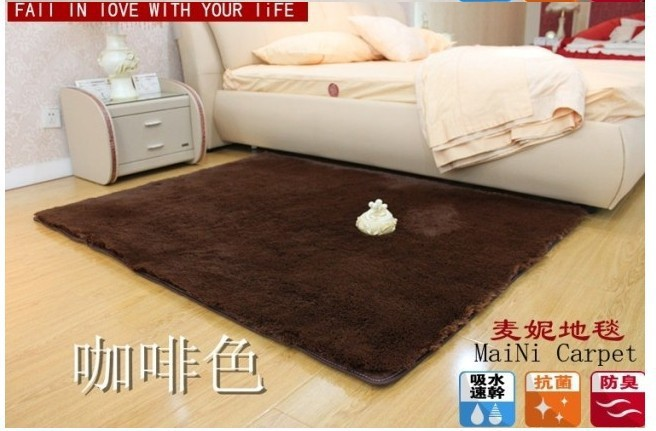 60*180cm brown Custom-made winter Carpet /warm mat/Washable bedroom carpet Rug - Sunday Girl's Time store