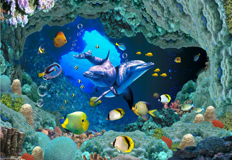 Webquest under the ocean for 3d aquarium wallpaper for bedroom