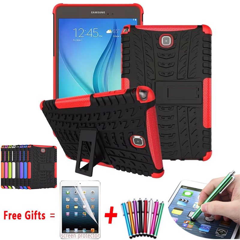 For Samsung Galaxy P350 Case Hyun Pattern Kickstand Armor Silicone Hard Back Cover For Samsung GALAXY Tab A 8.0 CaseT350 T355(China (Mainland))