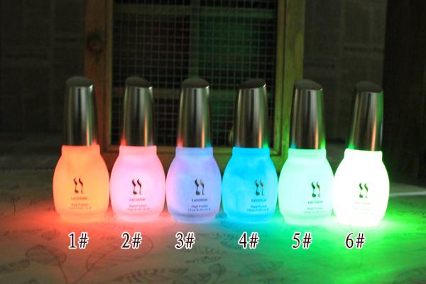 1pcs 15ml Fluorescent Neon Luminous Nail Polish Glow in Dark Nail Varnish Nail Enamel(China (Mainland))