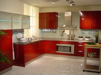Custom American solid wood kitchen cabinet Lacquer kitchen cabinet modern design lacquer kitchen cabinet in excellent finished