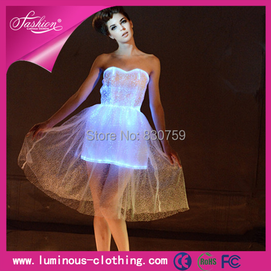 Newest luminous party dresses light up party dresses sexy dresses for party ballroom dresses(China (Mainland))