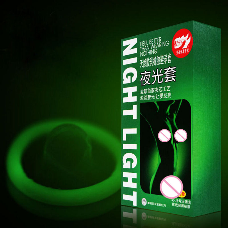 7PCS (3pcs luminous condoms + 4pcs ultra-thin condoms condom Male adult products Sex Products(China (Mainland))
