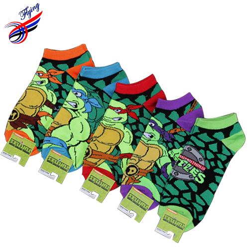 FLYING Japan Harajuku Designer Women Men Ankle Socks Cartoon Teenage Mutant Ninja Turtles Short Slipper Sock Couple Cotton Meias - Latest Fashion Mall store