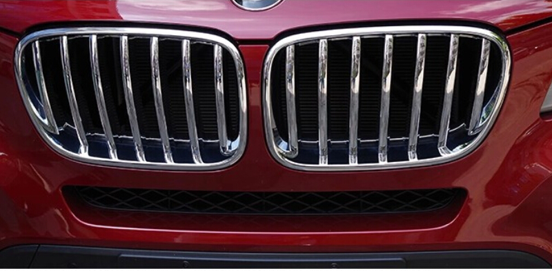 Kit Accessory 2pcs ABS Chrome Grill Grille Frame Cover For BMW X3 F25 2011-2015<br><br>Aliexpress