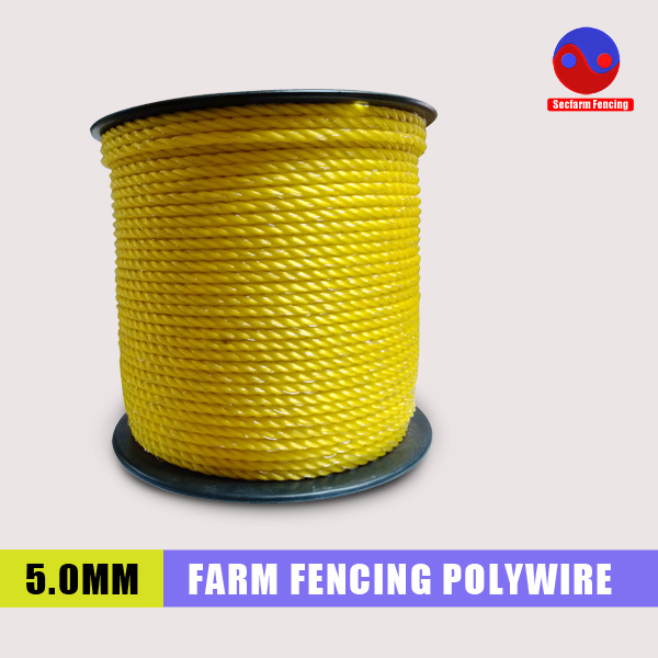 Highly visible animal safe 5.0mm 200m electric fence wire,polywire for farm fence(China (Mainland))