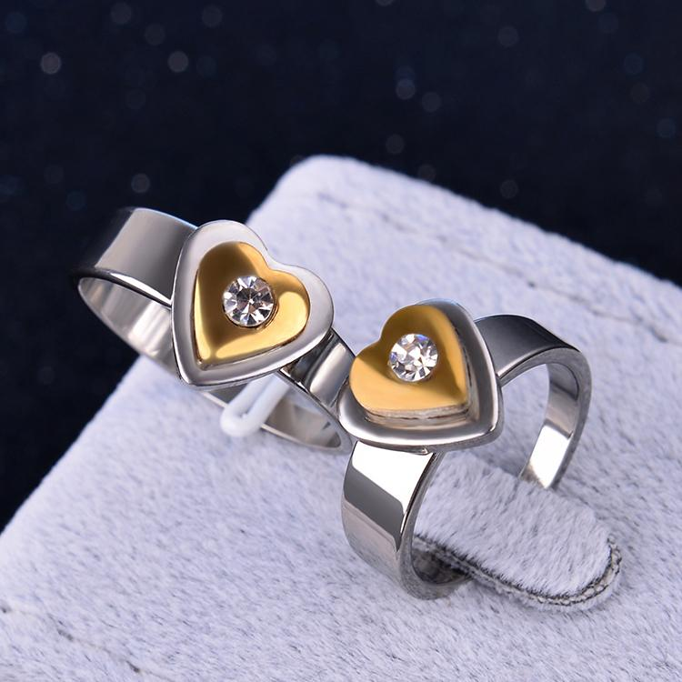 Buy direct from china 2015 rings 316L stainless steel corrosion Titanium Rings Women's love Rings jewelry wholesale(KA0104)(China (Mainland))