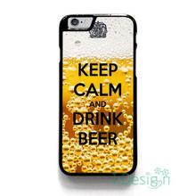 Fit for iPhone 4 4s 5 5s 5c se 6 6s 7 plus ipod touch 4/5/6 back skins cellphone case cover KEEP CALM AND DRINK BEER