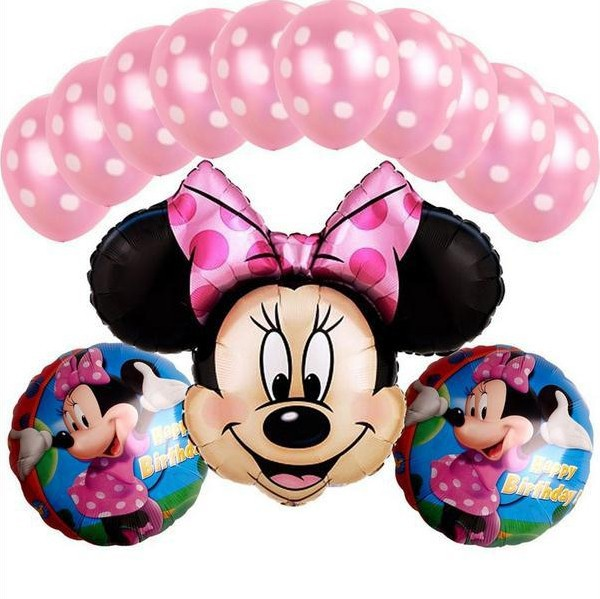 13 PCS/lot Minnie Mouse theme party decoration Combination suit balloons Wedding birthday party decoration foil balloon Hot sale(China (Mainland))