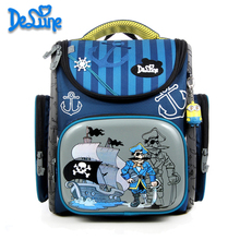 Delune School Bag 2016 Children Backpack High Quality 3D Print School Bags for Boys Girls Child Bags Primary School Backpacks(China (Mainland))