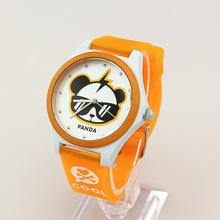2015 New Arrival Alloy Hot Sale Fashion Cute Cartoon Panda Quartz Watch Waterproof Kids Watches Casual