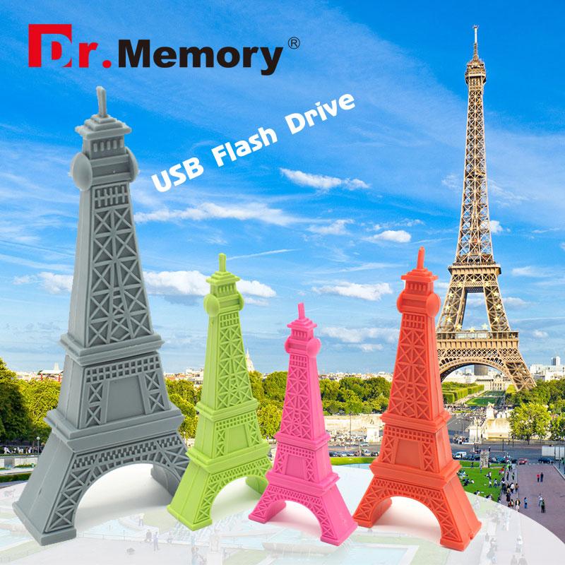 Dr.memory pendrive Paris Tour usb flash drive gray Eiffel 4gb 8gb 16gb 32gb pen drives flash usb drive Eiffel Tower usb flash(China (Mainland))