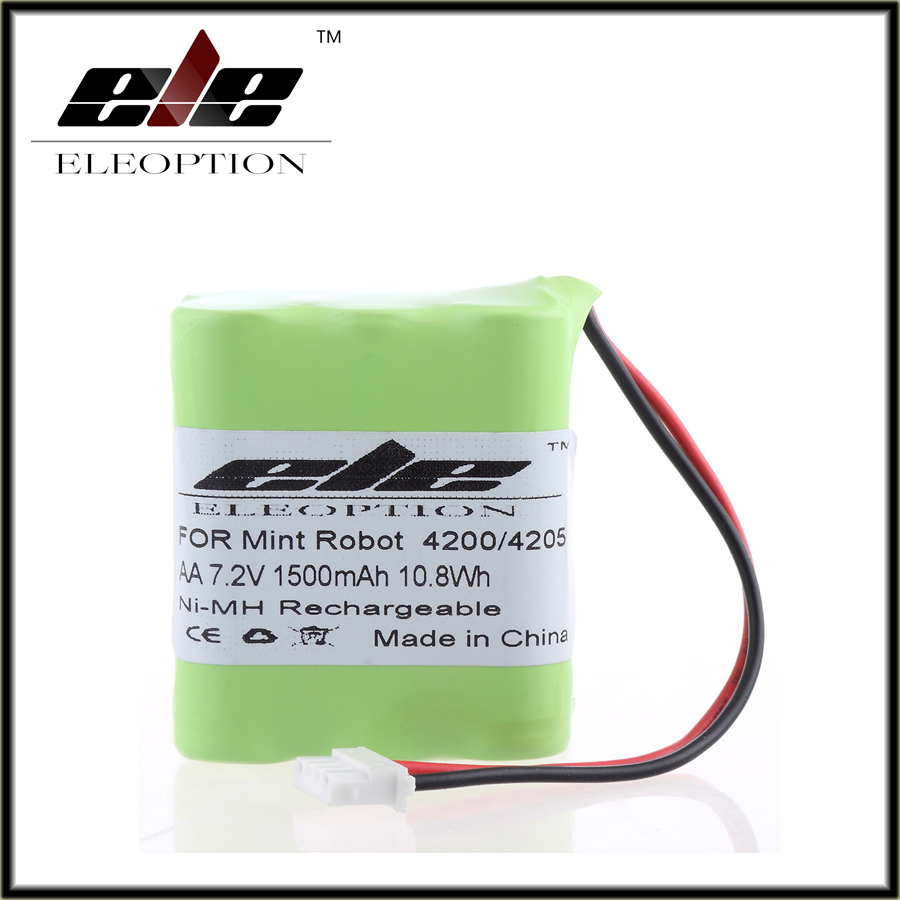 2017 Eleoption 1500mAh 7.2V 10.8wh Ni-MH Vacuum Floor Cleaner Rechargeable Battery for Mint 4200 Mint 4205(China (Mainland))