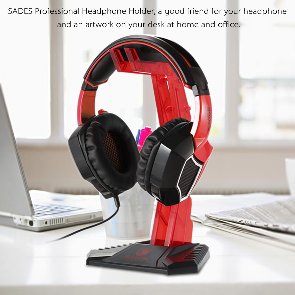 SADES Gaming Headphone Stand Earphone Holder Professional display rack Headset Hanger Bracket for Sony AKG Sennheiser Logitech(China (Mainland))