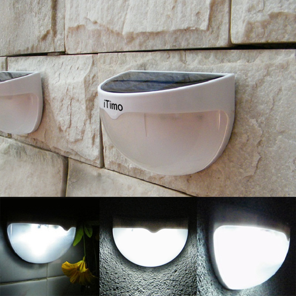 Waterproof Outdoor Sensor Lighting Solar Powered LED Lights Fence Roof Gutter Garden Wall Decoration Lamps iTimo